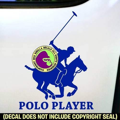 Polo Rider Horse Riding MAILBOX Set CUSTOM ADDRESS Vinyl Decal Sticker E