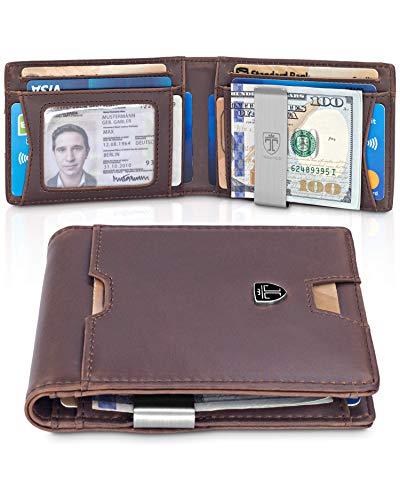 - TRAVANDO Slim Wallet with Money Clip RFID Blocking Wallet AUSTIN Credit Card Holder | Travel Wallet | Minimalist Mini Wallet Bifold for Men Mens Mans Gift Box