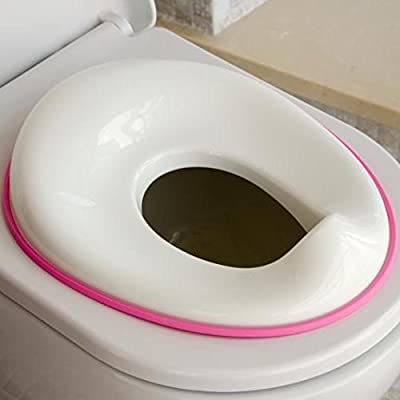Potty Training Seat for Girls - Fits Round & Oval Toilets, Includes Free Storage Hook - Jool Baby