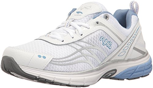 Ryka Women's Phoenix Running Shoe, White/Silver, 7.5 M US by Ryka