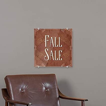 16x16 Fall Sale CGSignLab Victorian Card Premium Acrylic Sign