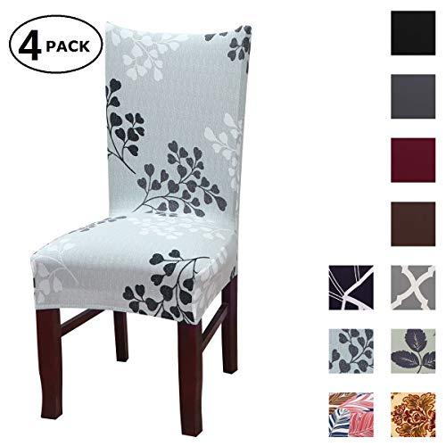 Dining Chair Cover Seat Protector Super Fit Slipcover Stretch Removable Washable Soft Spandex Fabric for Home Hotel Dining Room Ceremony Banquet Wedding Party Restaurant (Color 5, 4 Per Set)