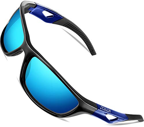 ATTCL Men's Sports Polarized Sunglasses Sports Glasses for Men Cycling Driving Golf (Blue+Blue, 306)