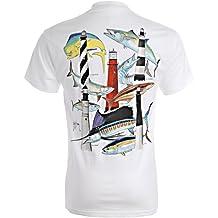 Guy Harvey Men's Florida Lighthouses T-Shirt