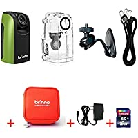 Brinno Construction Time Lapse Camera Bundle BCC100 + ATP100 (Pouch) + 16GB SD Card + Power Supply