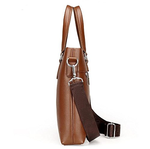 Computer Shoulder Handbag Men Brown3 Bag Fashion Horizontal Large Leisure Messenger 's Capacity Business ZIS6nwzS