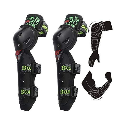 - Motorcycle Motocross Off-Road Racing Elbow Pads Protection Knee Brace ty Guards Protective Protector Armor E05-Green