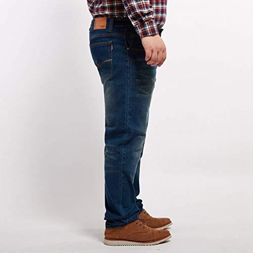 Estiramiento Elásticos Algodón De Los del Hombres Skinny Pantalones Blau del De Casuales Elásticos Vaqueros Vaqueros De Dril Estilo Pantalones Moda del Pantalones ffcA7Ua8Z