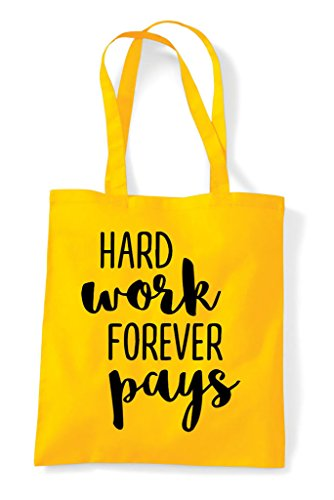 Shopper Hard Pays Bag Yellow Statement Work Forever Tote 1wwSaqPY