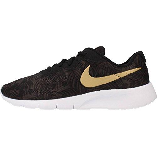Nike Tanjun Print (Gs), Zapatillas de Running para Niños Gris (Gris (deep pewter/metallic gold-black-white))
