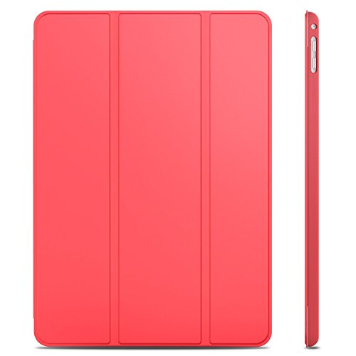 JETech Case for iPad Air 2 (Not for iPad Air 1st Edition), Smart Cover Auto Wake/Sleep, Red (Compare Ipad Air And Ipad Air 2)