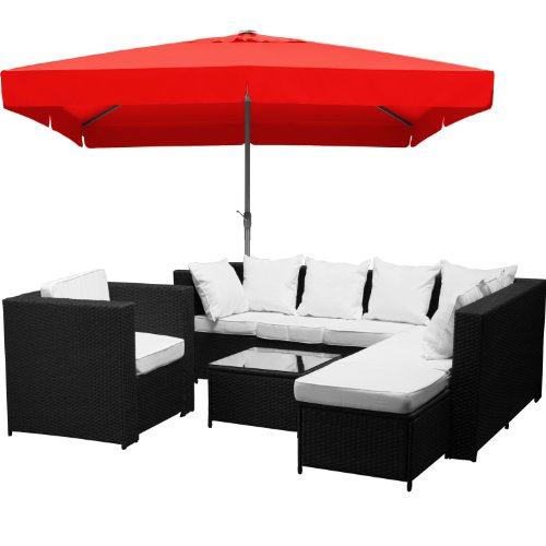 XINRO-23tlg-Gartenmbel-Lounge-Set-gnstig-1x-1er-Lounge-Sessel-Loungembel-Polyrattan-handgeflochten