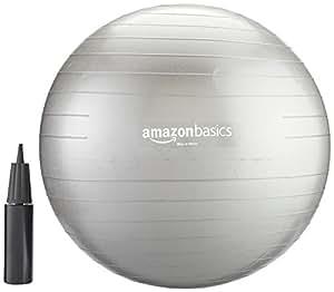 AmazonBasics Balance Ball with Hand Pump - 55 cm
