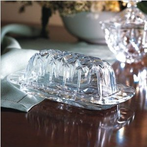 Gorham Lady Anne Crystal Covered Butter Dish