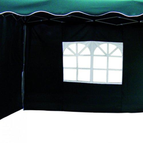 Seitenteile 2erSet für Alu Faltpavillon 3x3m gruen Seitenwand Pavillon
