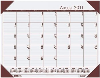 House of Doolittle EcoTone Academic Desk Pad Calendar, August 2010 to July 2011, 13 x 18 Inch ()
