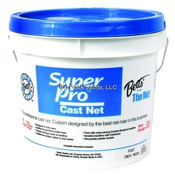 Betts 21-8 Super Pro Mono Cast Net 8' 3/8 Mesh 1.3Lb Lead per Ft, Bucket ()