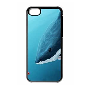 MMZ DIY PHONE CASEALICASE Diy Hard Shell Case Deep Sea Shark For iphone 5c [Pattern-1]