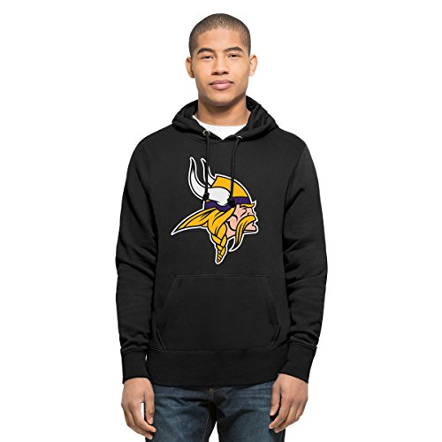 NFL Minnesota Vikings Men's '47 Headline Pullover Hoodie, Small, Logo Jet Black (Viking Clothes For Sale)