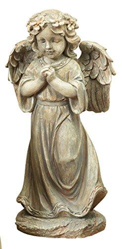 One Holiday Lane Beautiful Rustic Woodland Angel Figurine Garden Statue - Indoor or Outdoor Decoration (Praying) (Angels Cement Garden)