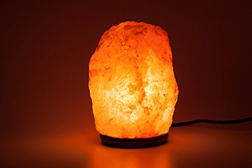 HemingWeigh Natural Himalayan Rock Salt Lamp 7-13 lbs with Wood Base, Electric Wire & Bulb by HemingWeigh (Image #6)