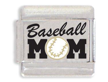 Baseball Mom Laser Italian Charm Bracelet Link
