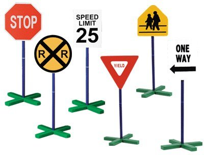 Drivetime Signs Set of 6 Play Traffic Signs* *Only $54.00 with SALE10 Coupon (Traffic Signs Guidecraft)