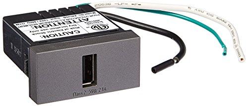PASS & SEYMOUR ARUSBM4 Adorne, 1/2 Size, Magnesium, USB ()