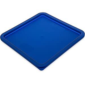 "Carlisle 1074260 StorPlus Polyethylene Lid, 11-3/8 x 11-3/8 x 5/8"", Royal Blue, For 12, 18, and 22-qt. Square Container (Case of 6)"