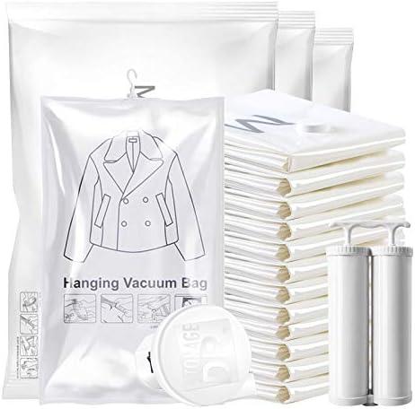 joyMerit Hign-end 20パック旅行用圧縮バッグ,旅行用ロールアップスペースセーバーストレージバッグ,スーツケースサイズホームストレージ