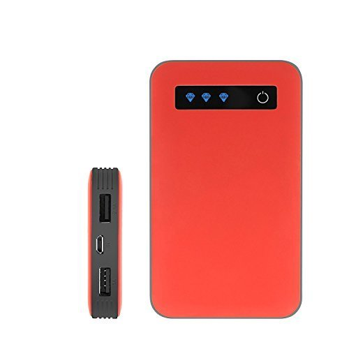 iJoy Portable Charger Ultra-Slim 10000mAh Power 10K Power Bank (Red/Gray) by iJoy