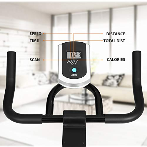 ANCHEER Stationary Bike, Indoor Cycling Exercise Bike 40 LBS Flywheel (Sliver_NO Pulse) by ANCHEER (Image #3)