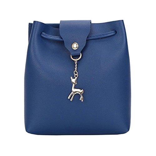 Ladies Travel Bag Leather Women Small Casual Messenger Satchel Lightweight Blue Shoulder Wallet Cellphone Bag Vintage Hasp Halijack Fashion Bag Crossbody Handbag twnfw6qS