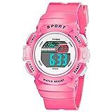 Multifunction Alarm Weekday Stopwatch Kids Sports Digital Luminous Wrist Watch
