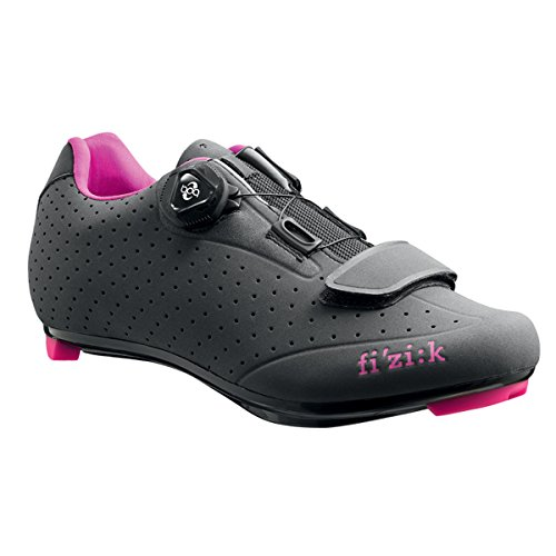 Fizik R5B Donna BOA Shoe with Fuschia Trim Anthracite with Fuschia Trim 4u4TEhUb
