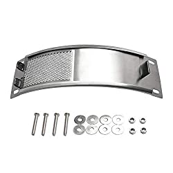 Qqmaster Bbq Draft Door Big Green Egg Replacement Parts Stainless Steel Draft Door Kit Bbq Funland Grill Parts Accessories Screen Draft Door Fits For Medium Large Big Green Egg Grill