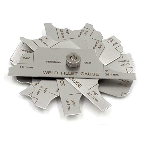 Welding Fillet Gauge 7pieces Weld Concave/Convex Gage Leg Length/Throat Size Measure Tools inch/mm MG-11