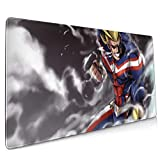 My Hero Academia Large Gaming Mouse Pad (35.43 X 15.75X 0.12inch) Extended Ergonomic for Computers Thick Keyboard Mouse Mat Non-Slip Rubber Base Mousepad