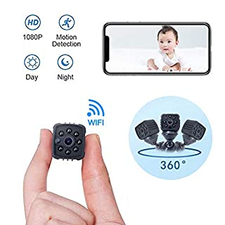 Mini Spy Camera Hidden,1080P Wireless Nanny Camera with Cell Phone App,Night Vision and Motion Detection Remote Monitoring-Security for Pet,Baby,Indoor,Home and Office (C10)