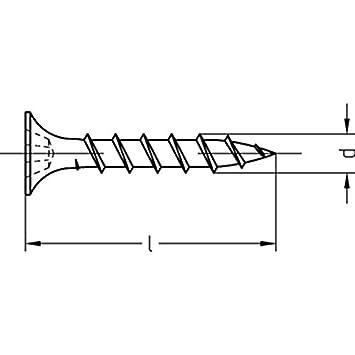 780 g im Eimer Schnellbauschrauben 3,5 x 25 phosphatiert