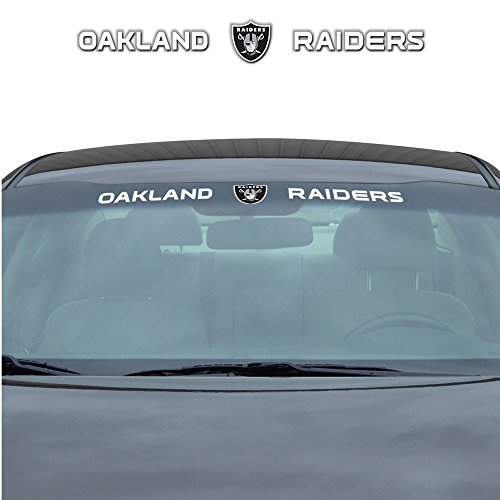 LA Auto Gear Oakland Raiders NFL Sports Team Logo Car Truck SUV Front Windshield Window Graphic Decal