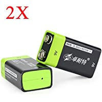 New 2PCS ZNTER S19 9V 400mAh USB Rechargeable 9V Lipo Battery By KTOY