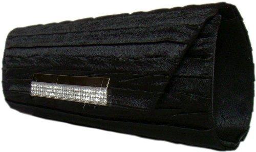 Edle Abendtasche/Clutch Tasche,27x9 cm,Schwarz