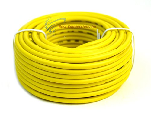 12 GA Gauge 50' Feet Yellow Audiopipe Car Audio Home Remote Primary Cable Wire