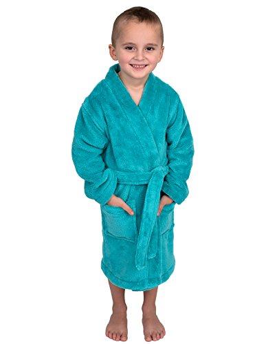 TowelSelections Little Boys' Robe, Kids Plush Kimono Fleece