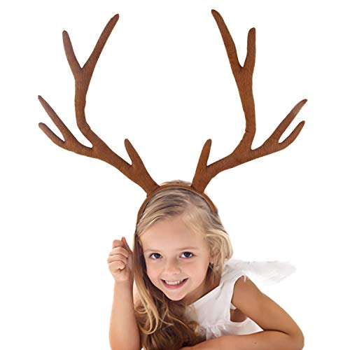 S SUNINESS Christmas Reindeer Antlers Headband - for Holiday Party or Rudolph Santa Costumes Accessory