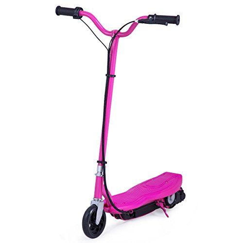 Costzon Electric Scooter, 24 Volt Motorized Scooter for Teens with Rechargeable Battery (Rose)