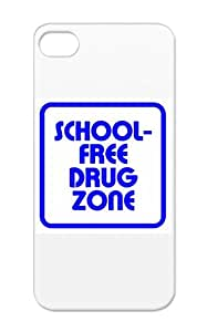 Shockproof Funny Satire Navy Drug Zone Bluewhite For Iphone 5/5s Cover Case