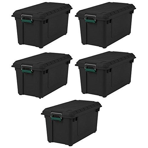 IRIS 82 Quart Remington WEATHERTIGHT Store-It-All Tote 5 Pack