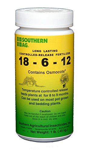 Southern Ag Long Lasting Controlled Release Fertilizer 18-6-12 Contains Osmocote